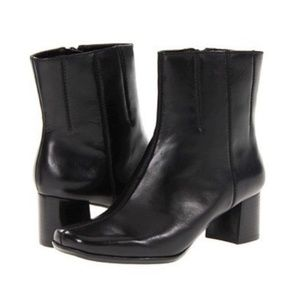 Nine West Black Pretty Lady Ankle Boots Size 8